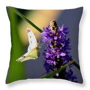 Butterfly - Cabbage White Throw Pillow