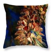Butterfly Cluster Fractal Throw Pillow