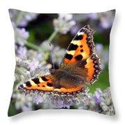 10088 Small Tortoiseshell Butterfly Throw Pillow
