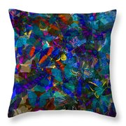 Butterfly Collage Blue Throw Pillow