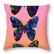 Butterfly Collage IIII Throw Pillow