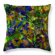 Butterfly Collage Yellow Throw Pillow