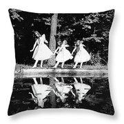 Butterfly Dance, 1920 Throw Pillow