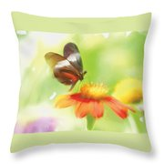 Butterfly Digital Painting Throw Pillow