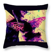 Butterfly Disintegration  Throw Pillow