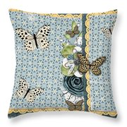Butterfly Dreamland Throw Pillow