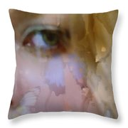 Butterfly Eyes Throw Pillow
