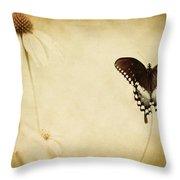Butterfly Flower Throw Pillow