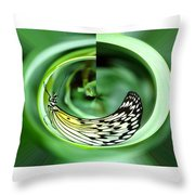 Butterfly Funnel Throw Pillow