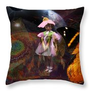 Butterfly Futures Throw Pillow