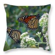 Butterfly Garden - Monarchs 01 Throw Pillow