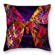 Butterfly In Abstract Dsc2977 Square Throw Pillow
