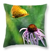 Butterfly In Flight Throw Pillow by Marty Koch