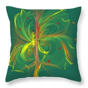 Butterfly In Green Throw Pillow