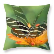 Butterfly In Motion #1967 Throw Pillow