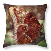 Butterfly In My Garden Throw Pillow