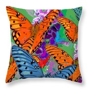 Butterfly Joy Throw Pillow