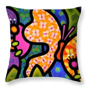 Butterfly Jungle Throw Pillow