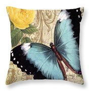 Butterfly Kisses-a Throw Pillow