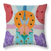 Butterfly Kisses And Ladybug Hugs Throw Pillow