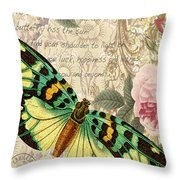 Butterfly Kisses-b Throw Pillow