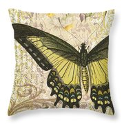 Butterfly Kisses-c Throw Pillow