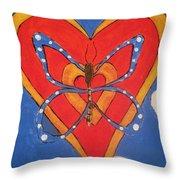 Butterfly Love Throw Pillow