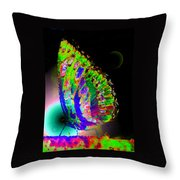 Butterfly Me To The Moon Throw Pillow