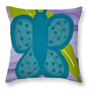 Butterfly Throw Pillow by Melissa Dawn