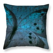 Butterfly Midnight Symphony Throw Pillow