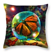 Butterfly Monarchy Throw Pillow