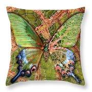 Butterfly Mosaic 03 Elena Yakubovich Throw Pillow by Elena Yakubovich