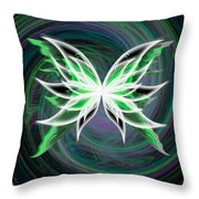 butterfly Motion Throw Pillow