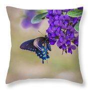 Butterfly Mountain Throw Pillow