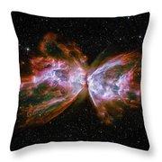 Butterfly Nebula Ngc6302 Throw Pillow