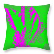 Butterfly Ode To Andy Warhol Throw Pillow