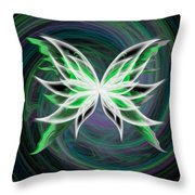 Butterfly Oil Painting Throw Pillow
