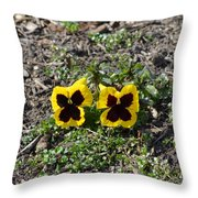 Butterfly Pansies Throw Pillow