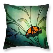 Butterfly Pause V1 Throw Pillow