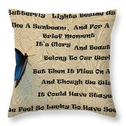Butterfly Poem Throw Pillow