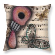 Butterfly Secrets  Throw Pillow by Abril Andrade Griffith