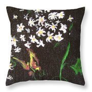 Butterfly Sprig Throw Pillow