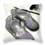 Butterfly Summer Throw Pillow