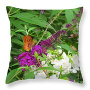 Butterfly Surprise Throw Pillow
