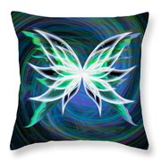 Butterfly Swirl Throw Pillow