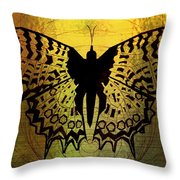 Butterfly Symmetry 2 Throw Pillow