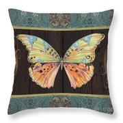 Butterfly Tapsetry-jp2197 Throw Pillow