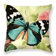 Butterfly Visions-b Throw Pillow