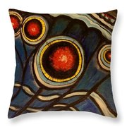 Butterfly Wing Close Up Throw Pillow