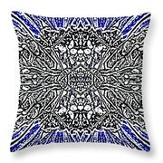 Butterfly Wings Art Nouveau  Double Mirror Image Compressed  Throw Pillow